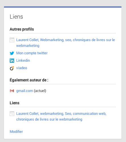 lier votre contenu à google+